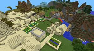 Minecraft Village Seeds Two Blacksmith Villages At Spawn Epic Mcpe Seeds