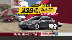 Fred Haas Toyota World - Big Summer Sales Event - Car Deals - YouTube
