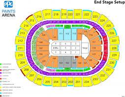 Wells Fargo Arena Seating Chart Wells Fargo Arena Row Seating Chart Seating Chart