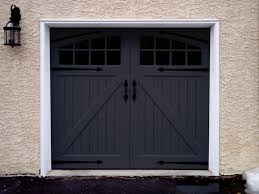 A Garage Door Color Trend Black Magic