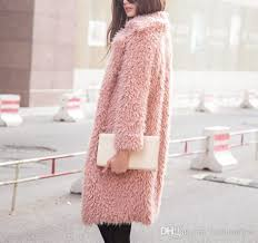 2018 faux fur powder pink alpaca outwear gy fur jacket fake fur blush pink coat fluffy burning man coat from fashionfirst 19 1 dhgate com