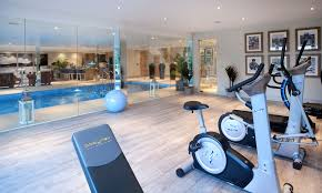 indoor gym pool. Home Gym Equipment Ideas Traditional With Glass Walls Internal Windows Indoor Pool