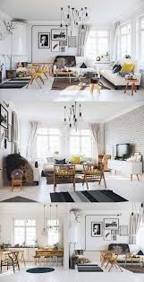 industrial style home lighting. contemporary living room scandinavian style interior white floor brick wall industrial home lighting