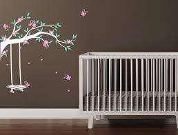 Small Picture Garden Swing Wall Decal Flowering Branch Contemporary Wall