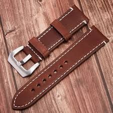 vintage 24mm genuine leather watch strap replacement wrisch band alligator watch band watch brands from onlycloth 35 51 dhgate com