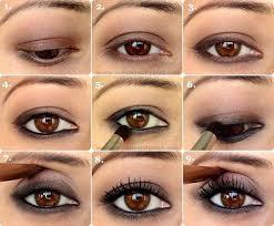 simple kohl lined smokey eye makeup