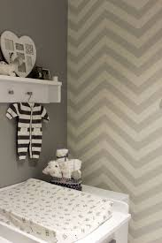 Grijs Behang Kinderkamer Grey Wallpaper Childrens Room Chevron