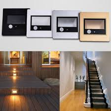 Motion Sensor Stair Lights 1 5 10x 85 240v Wall Plinth Stair Lamp Motion Sensor Corridor Hall
