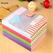 online get cheap cute writing paper com alibaba group colorful cute heart notebook hardback writing paper diary journal memo notepad color randomly