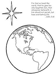 John 3 16 Preschool Coloring Worksheets God So Loved The World