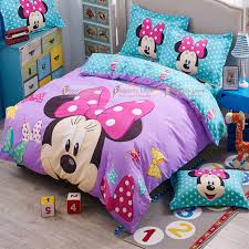 kids mickey minnie mouse present bedclothes 3d bedding sets for full pertaining to comforter set designs