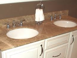 Bathroom Sink  Tuscan Bathroom With Wooden Vanities With Granite - Granite countertops for bathroom