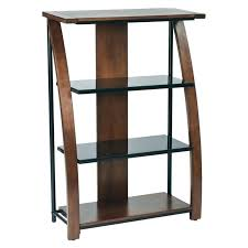 5 shelf glass bookcase furniture palace l