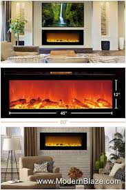 touchstone the sideline 60 recessed electric fireplace 80011