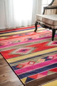 nuloom geometric flatweave wool tribal kilim area rug southwestern area rugs by rugs usa