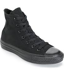 converse womens chuck taylor all star all black high top shoes