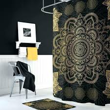 black and gold bathroom rugs bath rug set mat mandala furniture stunning