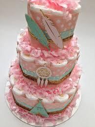 Dream Catcher Baby Shower Cake Boho Diaper Cake Dreamcatcher Diaper CakeNew Baby GiftBaby 5