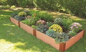 composite raised garden kit 4ft x 12ft x 11in rectangle 2 inch profile