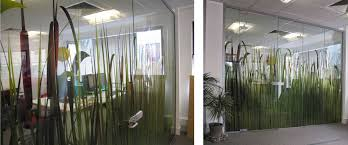 printed optically clear for office glass