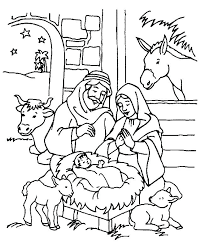 Manger Coloring Pages To Print Nativity Printable Beautiful Precious