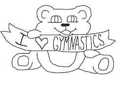 gymnastics coloring page image