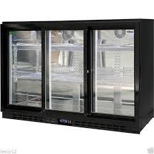 brand new rhino sliding 3 door glass bar fridge commercial energy efficient