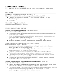 100 Resume Sample Doc Format Cv Higher Education Samples