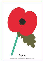 poppy template remembrance day printables