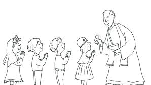 Eucharist Coloring Pages Download Large Image Catholic Eucharist