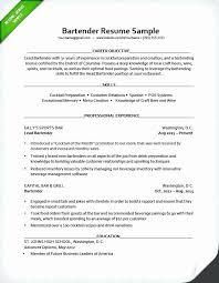 Waitress Resume Example Magnificent Bartender Job Description Resume Unique Waiter Resume Sample Sample