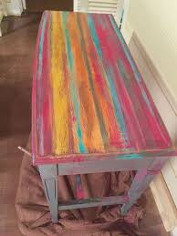 mexican painted furnitureMexican Blanket Dresser How to Blend Color With Clay Based Paint