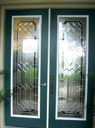 glass front door inserts stained shaker 3 lite fort glas