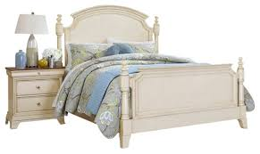 Homelegance Inglewood II 5-Piece Poster Bedroom Set in Antique White ...
