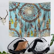 Dream Catcher Carpet Impressive Home Decor 32X32cm Watercolor Tapestry Dream Catcher Feathers Wall