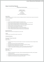 Sample Resume For Truck Driver Amazing Resume For Truck Driver Mkma