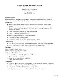 Quality Assurance Resume Beautiful Resume Objective For Quality