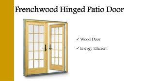 Frenchwood Hinged Patio Door  Wood Door  Energy Efficient ...