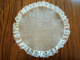 Burlap Round Table Overlays Burlap And Lace Round Table Centerpiece Burlap Placemat Rustic