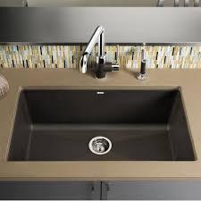 blanco precis super 32 x 19 silgranit ii single bowl undermount sink cafe brown 440147 bbq guys