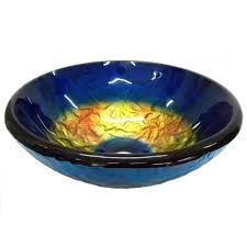 small true planet glass vessel sink in multi colors with pop up