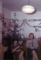 60s Christmas - real Christmas tree
