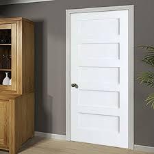 Wood interior doors White Wood Shaker Panel Standard Door Stopqatarnow Design Find The Perfect Wood Interior Doors Wayfair