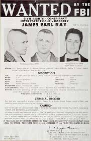 Criminal Wanted Poster Enchanting Wanted Poster For James Earl Ray The Man Who Killed Martin Luther