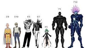 Tallness Chart Edited Accurate Height Chart I Found Online Onepunchman