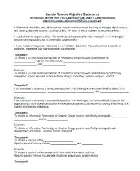 Good Objective Statement For Resume Inspiration 18 Resume Examples Objective Good Objectives In A Resume Objective