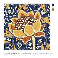Cross Stitch Free Patterns Simple Cray William Morris Inspired Free Cross Stitch Pattern