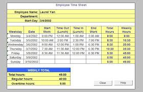 timesheet calculator with lunch timesheet calculator with lunch employee time sheets excel kays