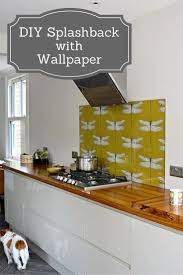 create a unique and stylish designer diy splashback with wallpaper step by step guide