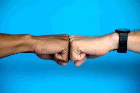 Evolution of fist bump